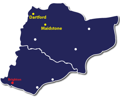 Debt Collection Worthing Map